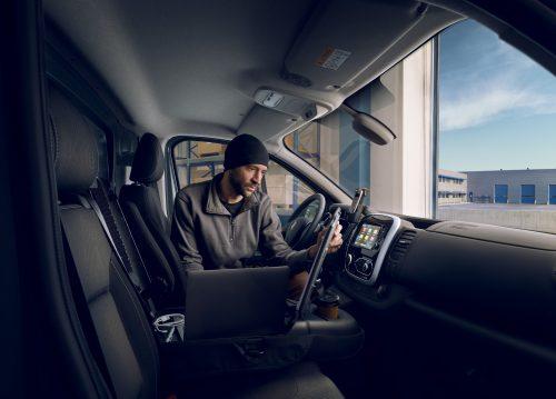 Interior Of Van In Black
