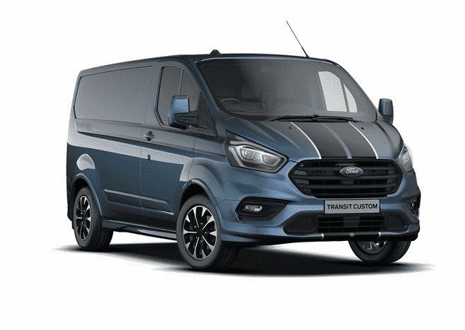 Ford-Transit-Custom Sport Chrome Blue
