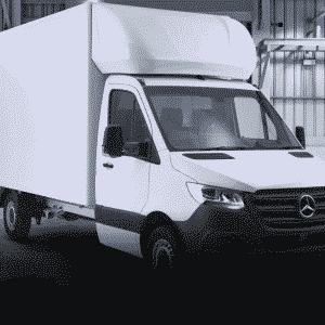New Mercedes Luton Van