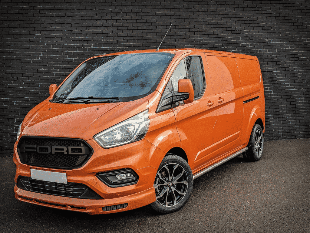 Ford Transit Custom Orange Left Front
