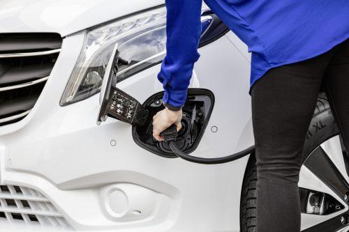 Mercedes-Benz eVito charging port