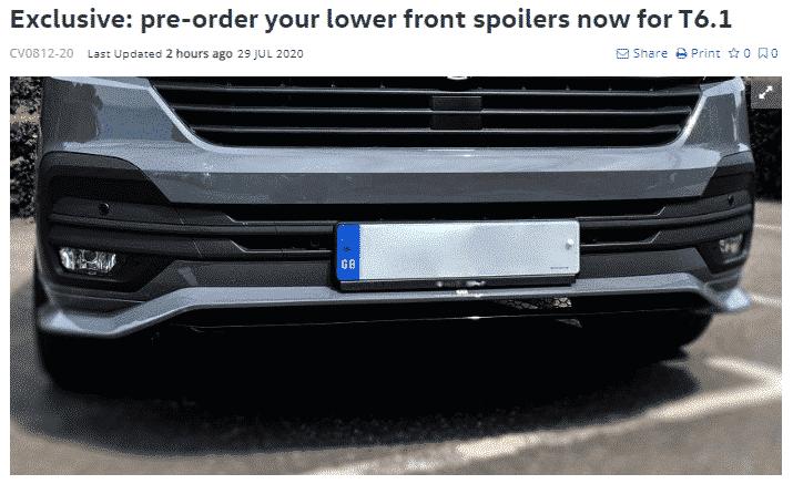 Genuine Volkswagen T6.1 SPlitter