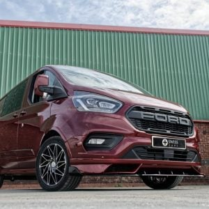 Ford Transit Custom Hornet Carmine Red with Raptor Style Grille